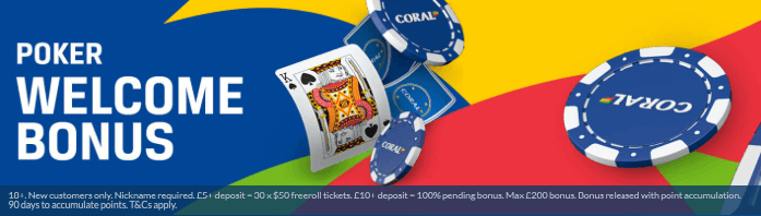 Coral Poker Sign Up Offer